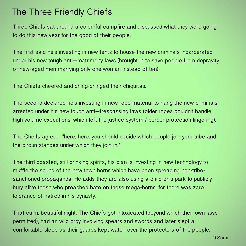 The very short story of a very long tale   Osamah Sami