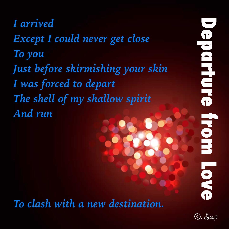 Departure From Love Osamah Sami أسامه سامي