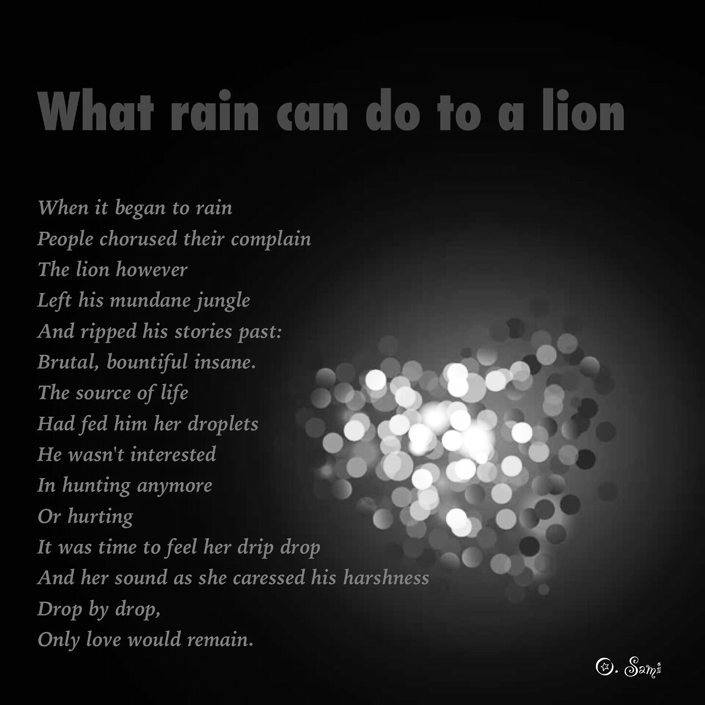 What Rain Can Do To A Lion